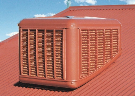 Evaporative Cooler on a roof